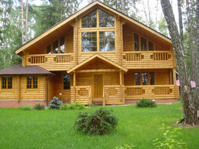 Элитные дома из оцилиндрованного бревна